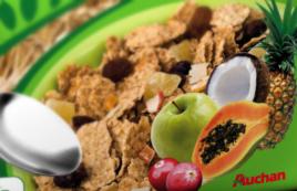 Auchan - opakowanie płatki śniadaniowe